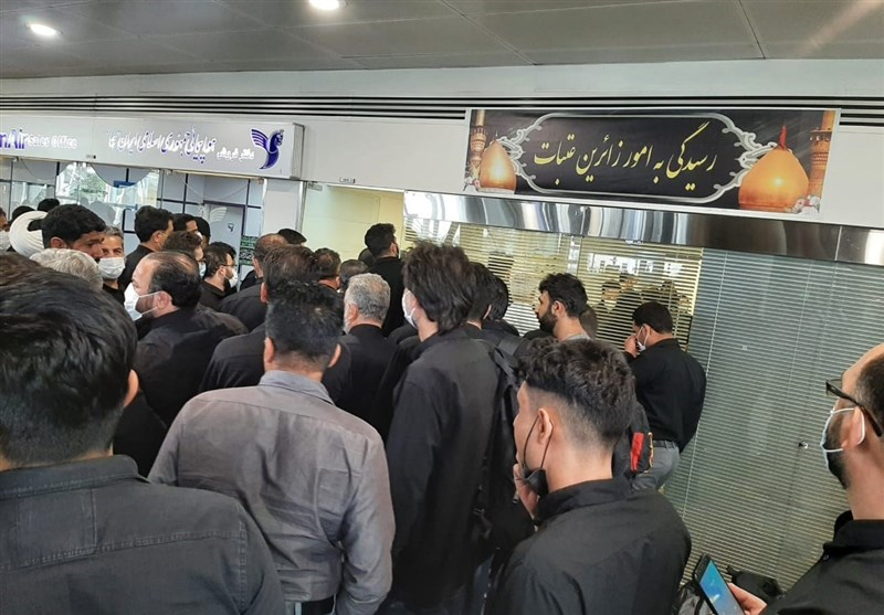 سرگردانی زائران اربعین در فرودگاه امام بهدلیل کارشکنی هواپیمایی العراقیه