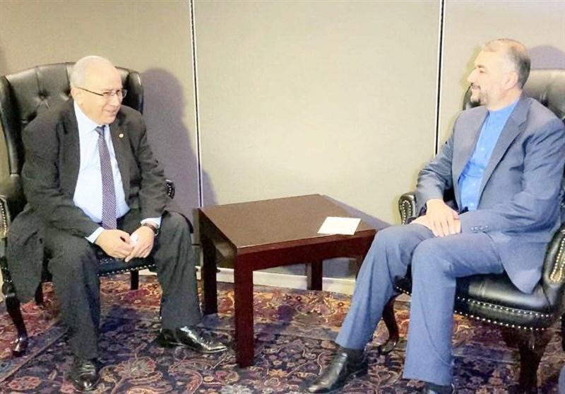 أمیر عبد اللهیان یلتقی وزیر الخارجیة الجزائری
