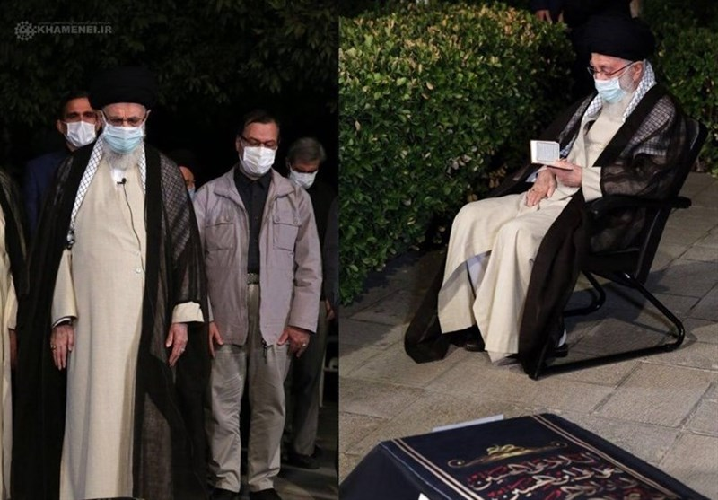 İnkılap Rehberi, Ayetullah Hasanzade Amoli'nin Cenaze Namazını İkame Etti