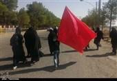 پیادهروی جاماندگان اربعین حسینی در نطنز به روایت تصویر
