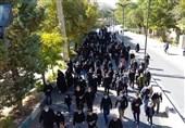 مزار شهدای گمنام دماوند میزبان راهپیمایان اربعین حسینی شد + فیلم