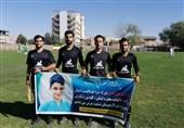 گرامیداشت شهید علی لندی در زمین فوتبال