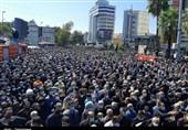 مردم شهر دارالمومنین با پیکر پاک علامه حسنزاده آملی وداع کردند + فیلم
