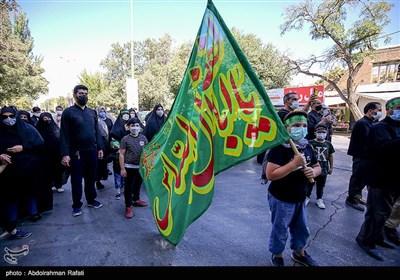 مراسم پیادهروی و اجتماع بزرگ جاماندگان اربعین در همدان
