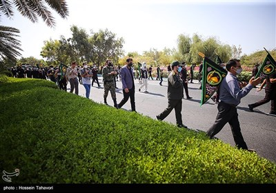 پیاده روی جاماندگان اربعین - کیش
