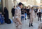 نمایش خیابانی لشکر 41 ثارالله در میدان آستانه قم اجرا شد