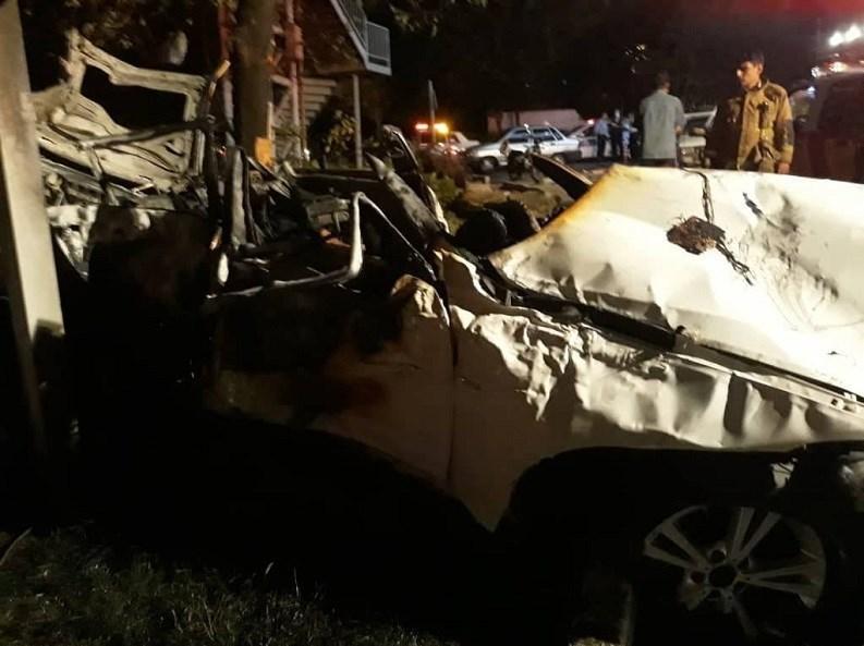 14000706085746482237034510 - مرگ تلخ سرنشینان BMW میان شعلههای آتش + تصاویر