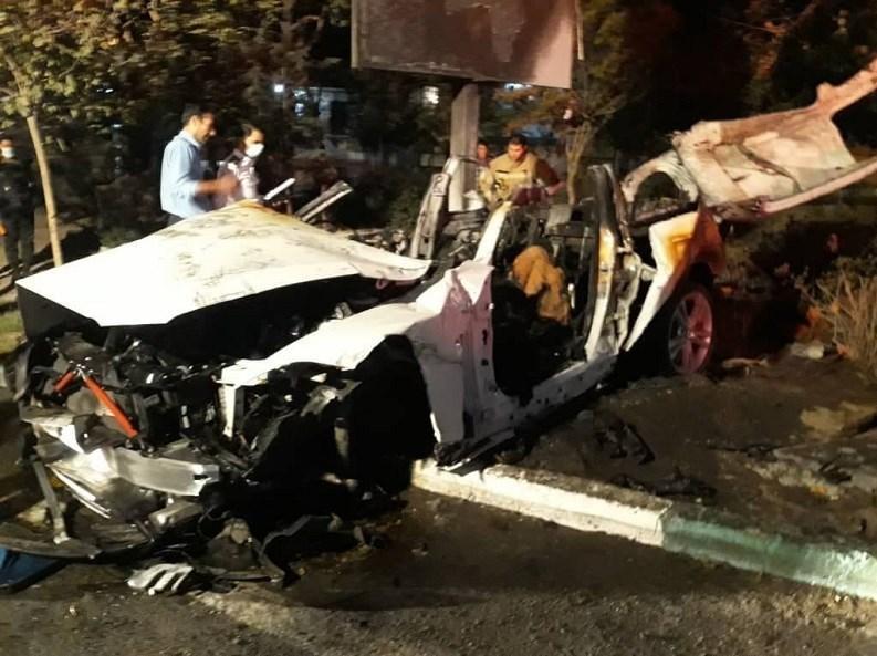 14000706085758154237034610 - مرگ تلخ سرنشینان BMW میان شعلههای آتش + تصاویر
