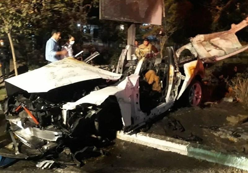 مرگ تلخ سرنشینان BMW میان شعلههای آتش + تصاویر
