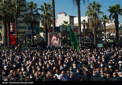 تشییع جثمان العلامة حسن زادة آملی فی مدینة آمل شمال ایران