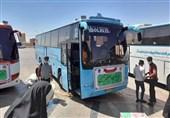 52 اتوبوس به سمت مرزهای ایران با عراق از کرمان اعزام شد+تصاویر