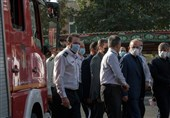 بازدید سرزده وزیر کشور از ایستگاه یک آتشنشانی تهران + تصاویر