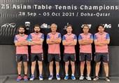 تنیس روی میز قهرمانی آسیا| عنوان پنجمی تیم مردان ایران و ثبت بهترین نتیجه در تاریخ