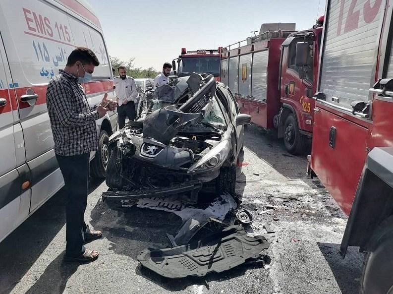 14000709141455401237268710 - تصادف مرگبار پژو 207 در جاده ورامین/ انتقال مصدومان با بالگرد + تصاویر
