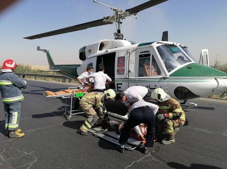 14000709141531464237268910 - تصادف مرگبار پژو 207 در جاده ورامین/ انتقال مصدومان با بالگرد + تصاویر