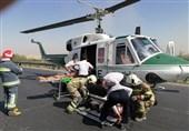 تصادف مرگبار پژو 207 در جاده ورامین/ انتقال مصدومان با بالگرد + تصاویر