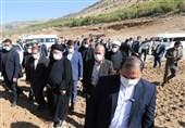 پنجمین سفر استانی رئیس جمهور ـ 3  بازدید آیتالله رئیسی از سد در حال ساخت تنگ سرخ + فیلم