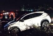 """تصادف شدید """"لکسوس"""" با 4 خودرو در بزرگراه چمران + تصاویر"""