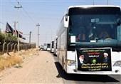 سفر کاروانهای اربعینی ترکیه و جمهوری آذربایجان به عراق با همراهی جنبش نُجَباء + تصاویر