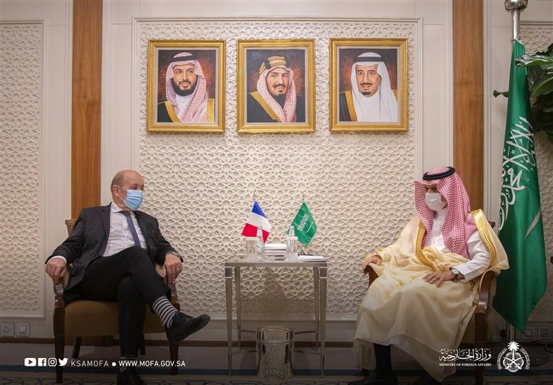 دیدار وزیر خارجه فرانسه با وزیر خارجه عربستان در ریاض