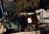 3 کشته بر اثر تصادف شدید کامیونها در خیابان ولنجک + فیلم و تصاویر