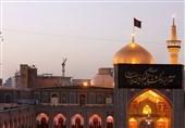 حرم رضوی سیاهپوش دهه پایانی صفر / زائران خورشید در راه مشهد