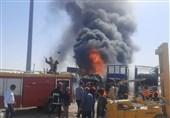 آتش سوزی 4کامیون در گمرک دوغارون