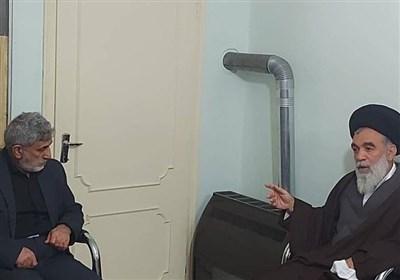 تشریح تحولات اخیر منطقه در دیدار سردار قاآنی با عضو فقهای شورای نگهبان