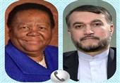 تأکید وزرای خارجه ایران و آفریقای جنوبی بر گسترش مناسبات دو کشور