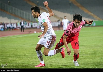دیدار فوتبال ایران و کره جنوبی