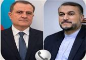 تأکید وزرای خارجه ایران و جمهوری آذربایجان بر حل وفصل مشکلات از طریق گفتگو و همکاری