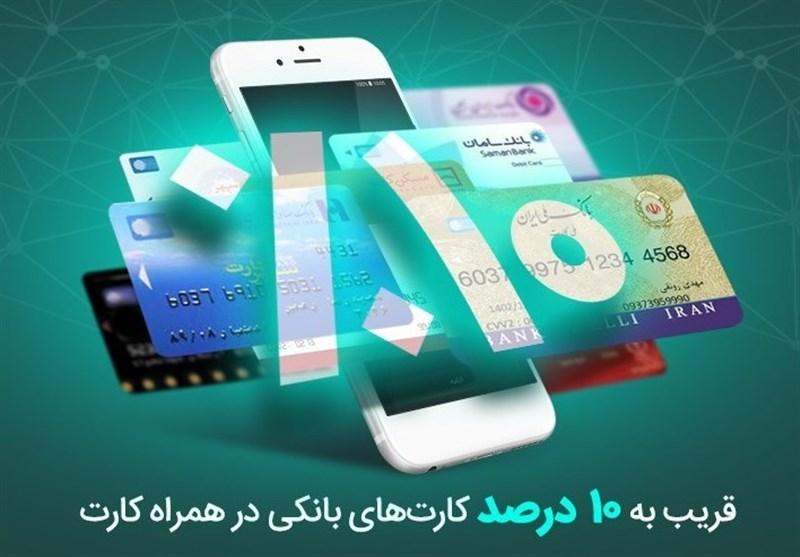 قریب به 10 درصد کارتهای شبکه بانکی در همراه کارت