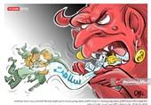 کاریکاتور/ حمله تورم به سلامت مردم با کاهش مصرف پروتئین و لبنیات!