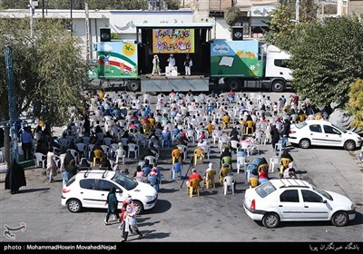 ویژه برنامه هفته ملی کودک در محله ی کم برخوردار خلازیر تهران