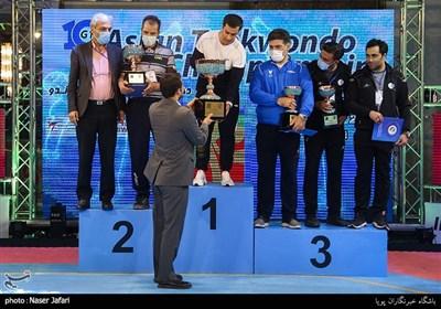 اهدای مدال و جوایز دهمین دوره مسابقات تکواندو جام باشگاههای آسیا