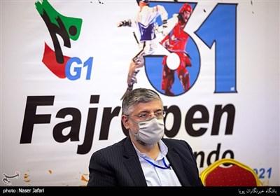 سید محمد پولادگر رئیس فدراسیون تکواندو در دهمین دوره مسابقات تکواندو جام باشگاههای آسیا