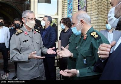 سردار محمد شیرازی رئیس دفتر نظامی مقام معظم رهبری در مراسم چهلمین روز درگذشت سرلشکر سید حسن فیروزآبادی