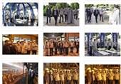 بازدید معاون وزیر صمت و رییس هیات عامل ایمیدرو به همراه دستیار ویژه وزیر صمت از خطوط تولید شرکت فولادمبارکه