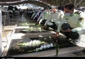 غبارروبی و عطرافشانی گلزار شهدای آذربایجان شرقی + تصاویر