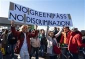 اعتراضات علیه گذر سبز سلامت در شهرهای ایتالیا