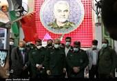 ادای احترام سرلشکر سلامی به شهید سلیمانی به روایت تصویر