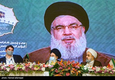 سخنرانی ویدئویی سیدحسن نصرالله دبیرکل حزب الله لبنان در مراسم افتتاحیه سی و پنجمین کنفرانس بین المللی وحدت اسلامی