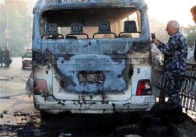 انفجار در مسیر مینی بوس نظامیان سوریه در دمشق/ 13 کشته و 3 زخمی + تصاویر