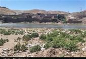 رودخانه کشکان روستای «چم گز» پلدختر را تخریب میکند