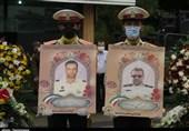 تشییع پیکر شهدای مبارزه با مواد مخدر در گیلان به روایت تصویر