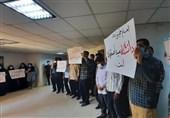 مطالبه دانشجویان بسیجی دانشگاه شهید چمران اهواز از دولت مردمی برای تحول + تصاویر