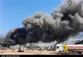 آتشسوزی گسترده در واحد تولیدی در زرندیه مهار شد+فیلم