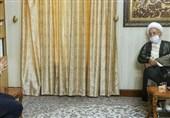 رئیس مجلس شورای اسلامی با آیتالله مکارم شیرازی دیدار کرد