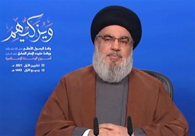 دبیرکل حزبالله: قدرت مقاومت برای دفاع از لبنان است/ اجازه دستدرازی تلآویو به ثروت ملتمان را نخواهیم داد
