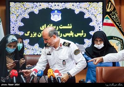 نشست خبری رئیس پلیس راهور تهران